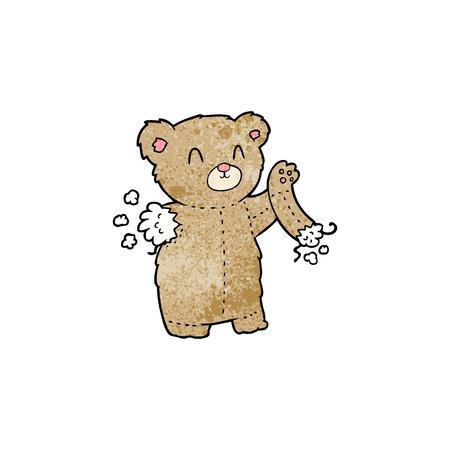 Ours en peluche de bande dessinée avec bras déchiré Banque d'images - 95135118
