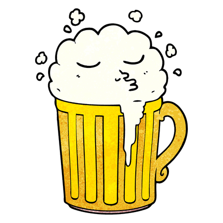 Cartoon mug of beer 일러스트