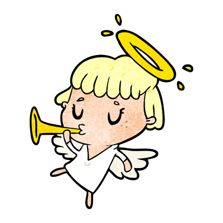 Niedlicher Cartoon-Engel Standard-Bild - 95127084