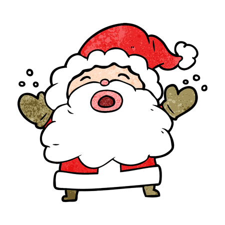 Cartoon Santa Claus shouting in frustration