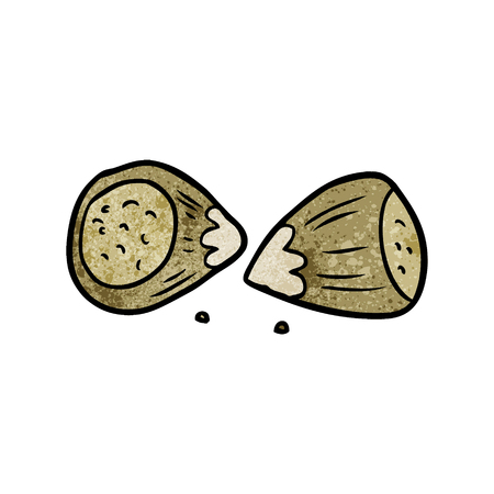 Cartoon hazelnuts Ilustrace