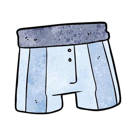Cartoon boxer shorts Illustration