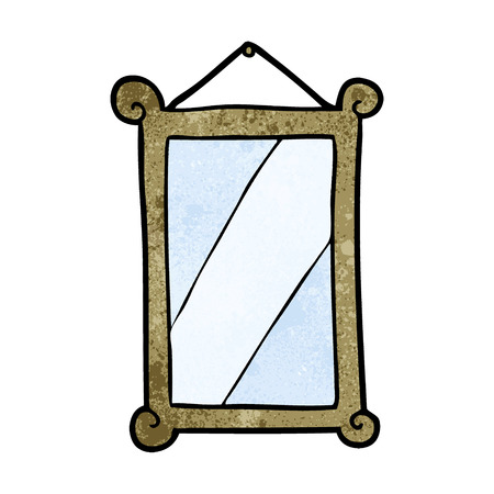 Cartoon framed old mirror Illustration