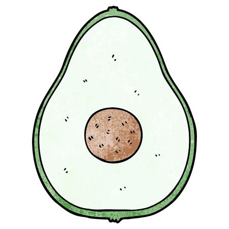 Cartoon avocado Illusztráció