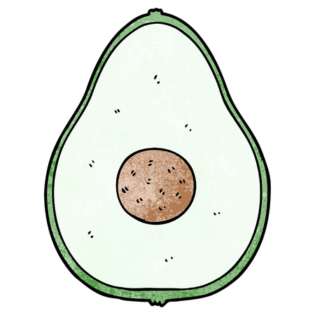 Cartoon avocado 向量圖像