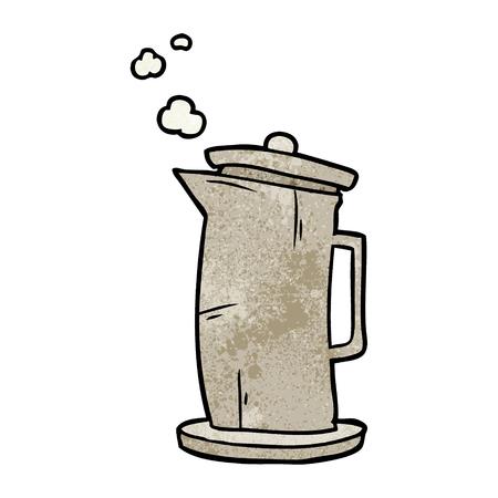 Cartoon alten Stil Wasserkocher Standard-Bild - 95135133