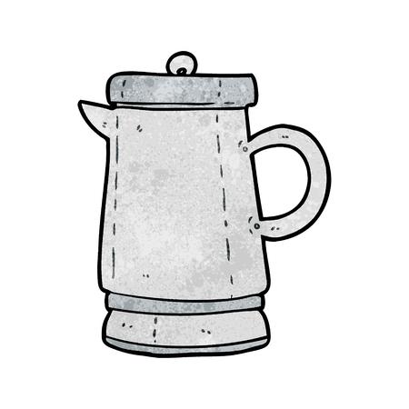 Cartoon alten Metall Wasserkocher Standard-Bild - 95135146