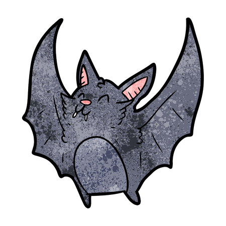 cartoon vampire halloween bat