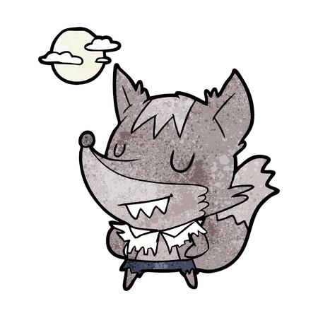 cartoon halloween werewolf Vectores