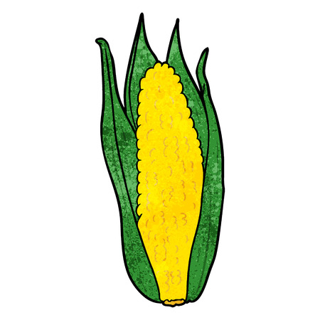 cartoon organic corn