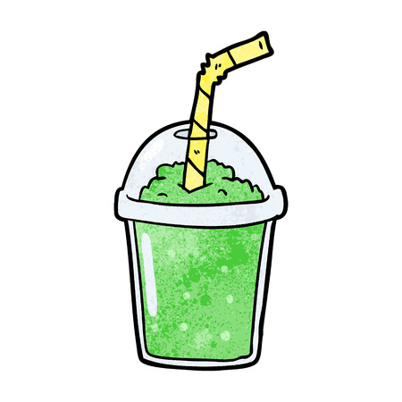 cartoon iced smoothie 版權商用圖片 - 95069742