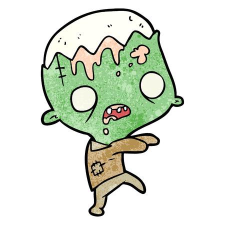 cute cartoon zombie Иллюстрация