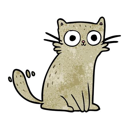 cartoon staring cat Illustration