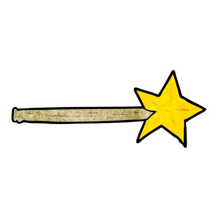 Ilustración vectorial varita mágica de la estrella de la historieta Foto de archivo - 95069527