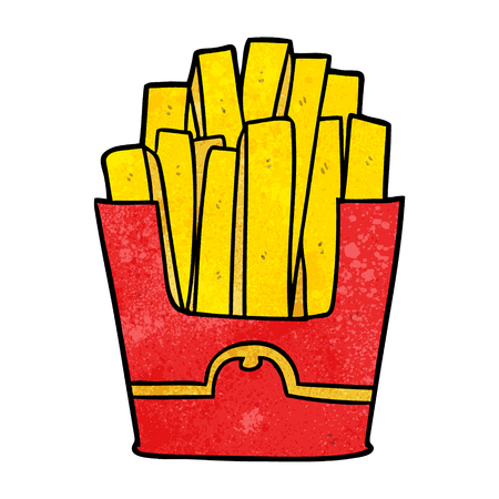 Cartoon junk food fries vector illustration
