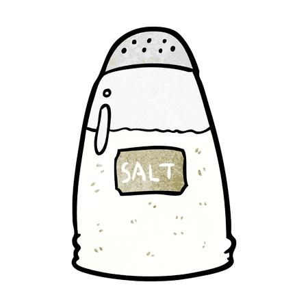 Cartoon salt shaker vector illustration