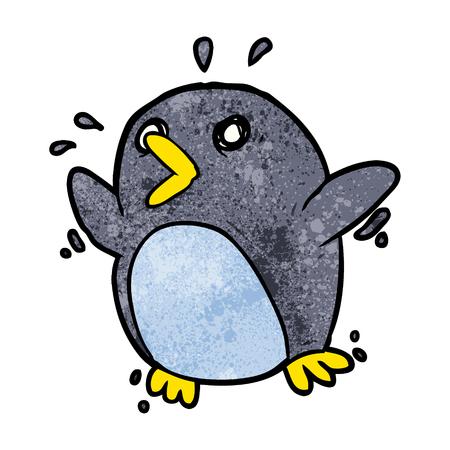 漫画怖いペンギンベクトルイラスト