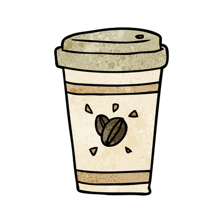 Cartoon cup of takeout coffee vector illustration 일러스트
