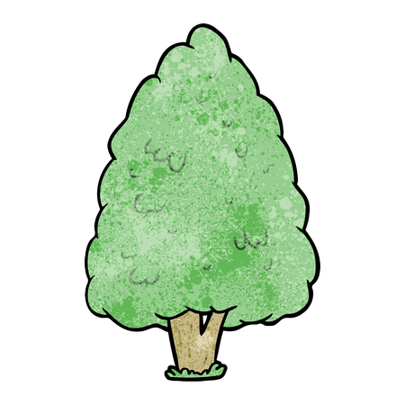 Cartoon tall tree vector illustration