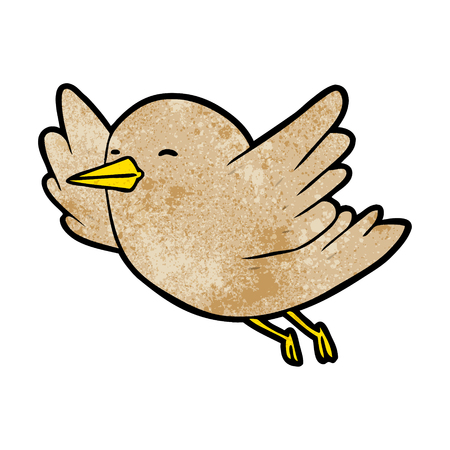 Cartoon bird flying vector illustration