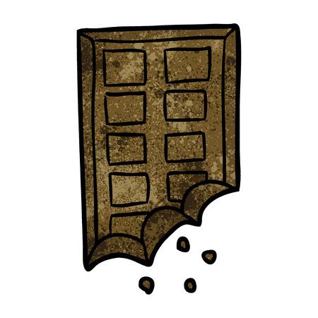 Barre de chocolat illustration de chocolat sur fond blanc Banque d'images - 95127264