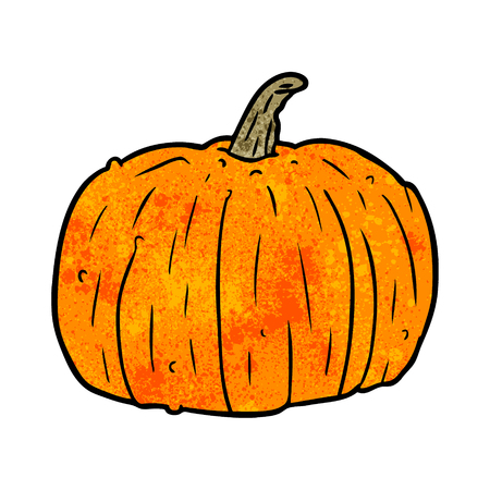 흰색 배경에 만화 할로윈 호박 그림입니다.