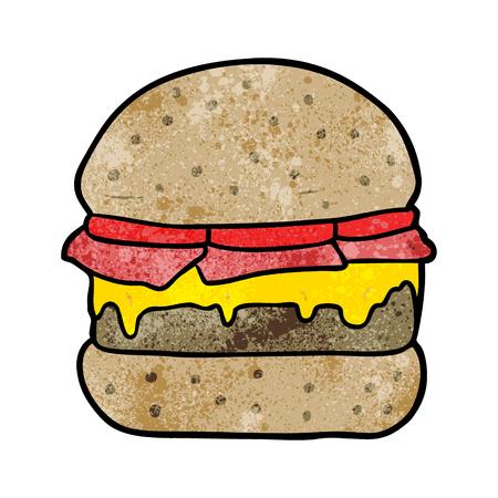 Cartoon stacked burger vector illustration