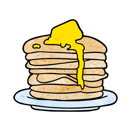 Cartoon stack of pancakes vector illustration