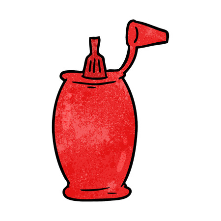 Cartoon tomato ketchup bottle vector illustration Illustration