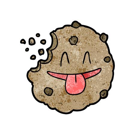 Cartoon cookie vector illustration