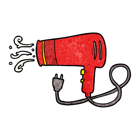 Cartoon electric hairdryer vector illustration Stock Illustratie