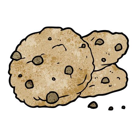 Cartoon cookies vector illustration Çizim