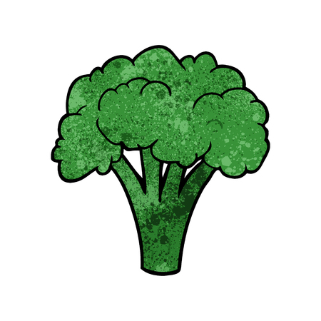 Cartoon broccoli vector illustration