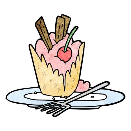 Cartoon tasty dessert vector illustration Imagens - 95073525