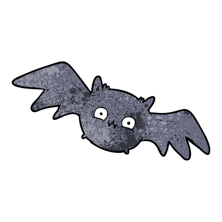 Cartoon vampire Halloween bat vector illustration
