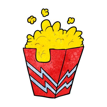 Cartoon box of popcorn vector illustration