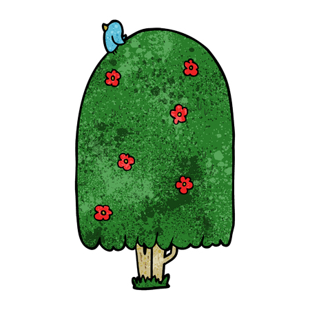 漫画の背の高い木のベクトル図