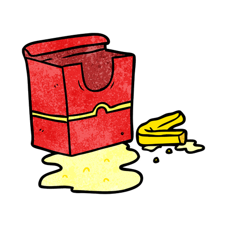 Cartoon empty box of fries vector illustration