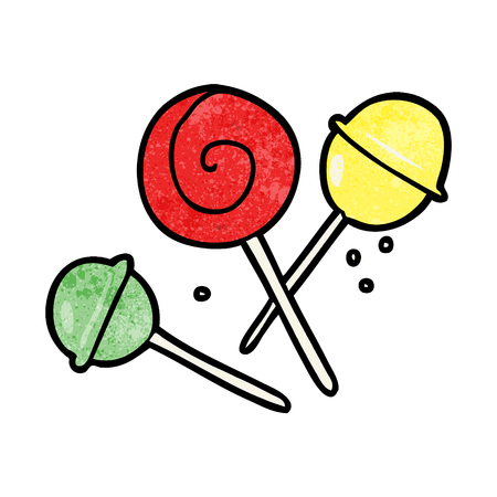 Cartoon traditional lollipops vector illustration