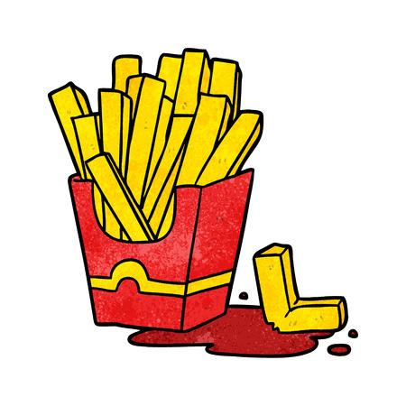 Cartoon patatine fritte illustrazione vettoriale
