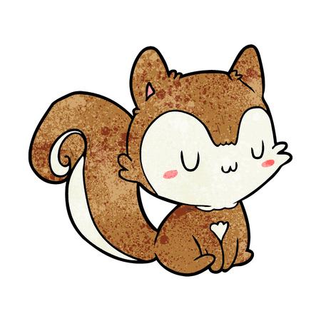 Cartoon squirrel vector illustration Illustration