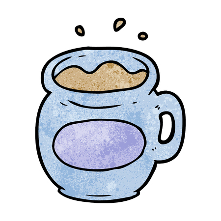 cartoon mug of coffee
