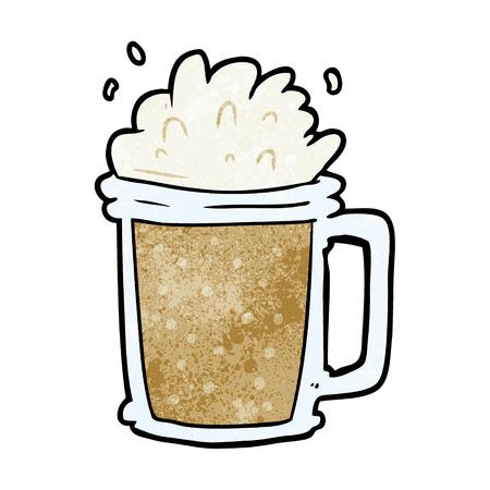 cartoon pint of ale 일러스트