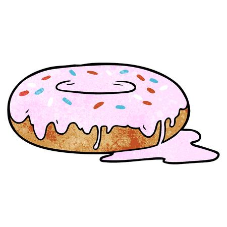 cartoon donut with pink glaze