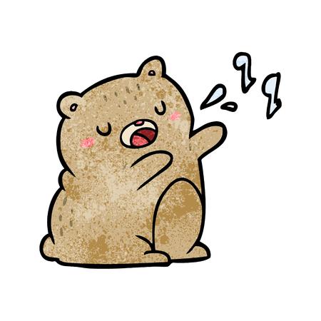 Cartoon Bär singt ein Lied Standard-Bild - 95104594