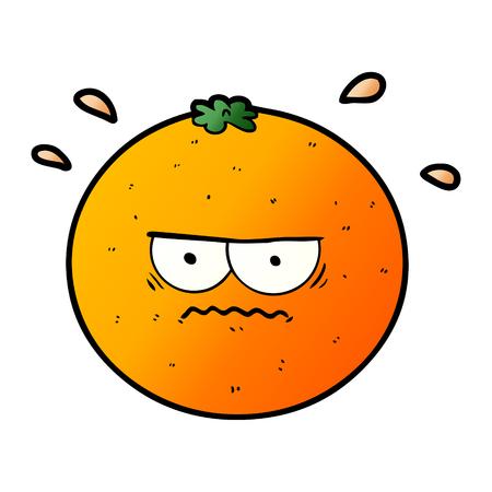 cartoon angry orange