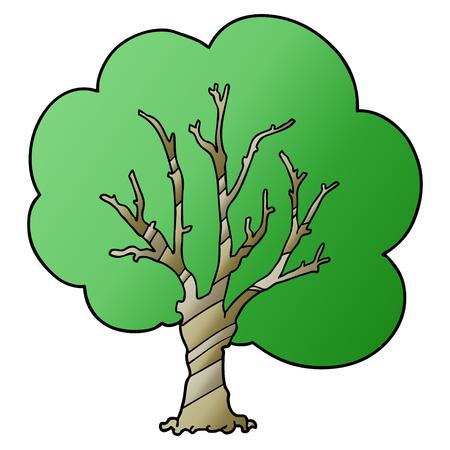 Cartoon tree 向量圖像
