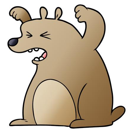 Cartoon roaring bear