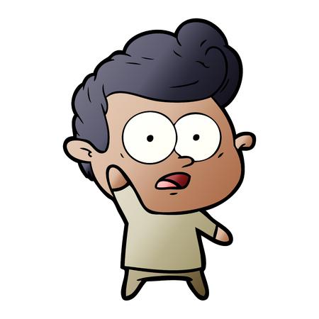 Cartoon man asking question Ilustração