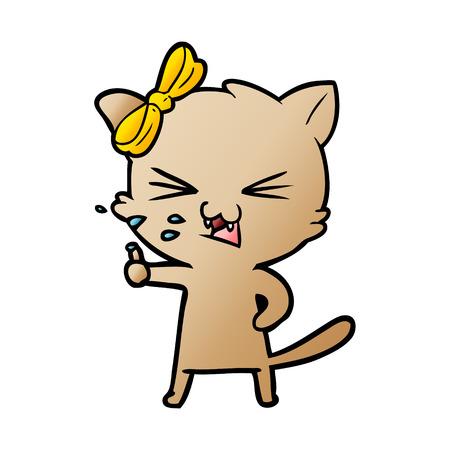 Cartoon pissed cat